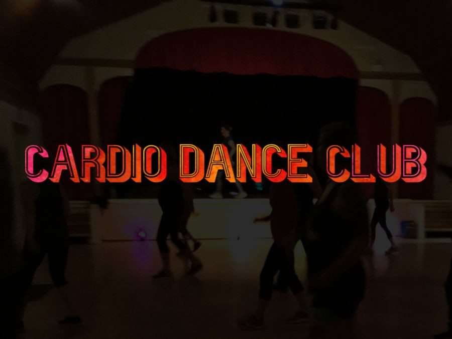 Cardio Dance Club logo on a photo background