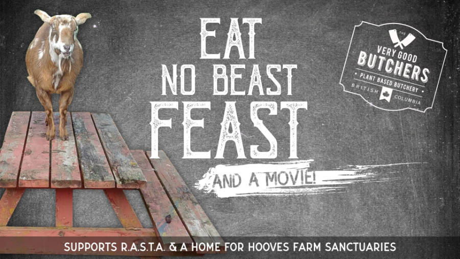 Facebook event header for Eat No Beast Feast campaign.