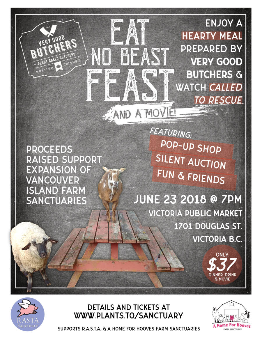 Poster for print or online sharing. Eat No Beast Feast campaign.