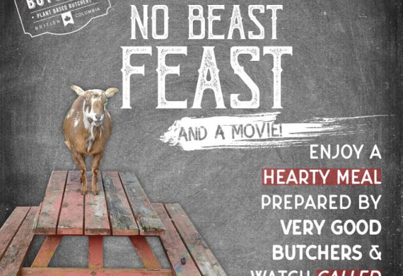 "Poster promotion for live event ""Eat No Beast"""