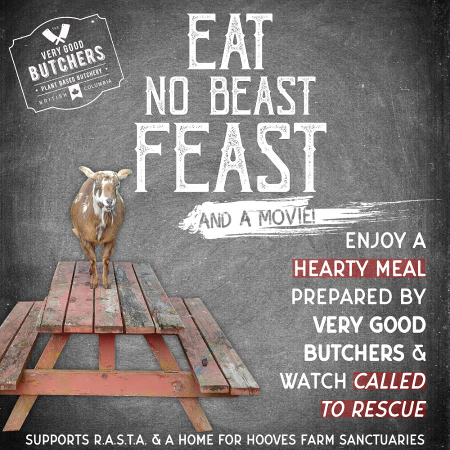 Sharable Instagram format for Eat No Beast Feast campaign.