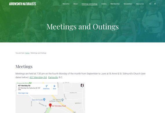 Arrowsmith Naturalists website