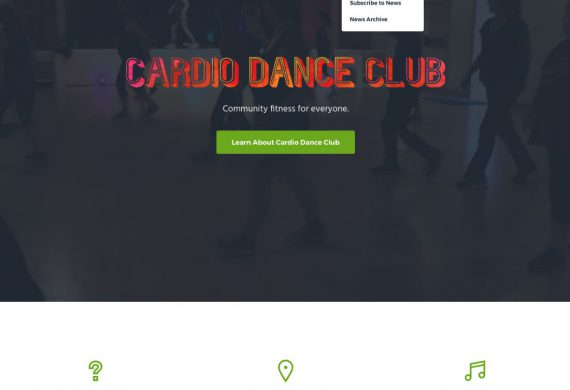 Cardio Dance Club website