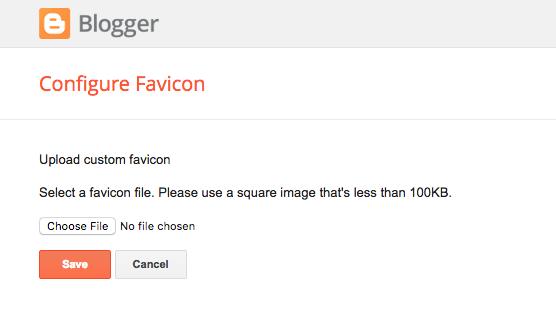 Setting a favicon in Blogger
